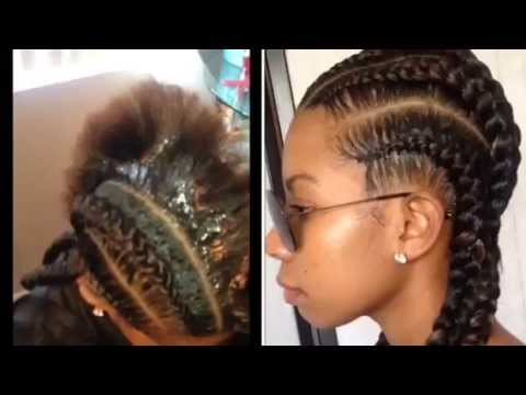Two Straight Braids Straight Back Braids Tutorial