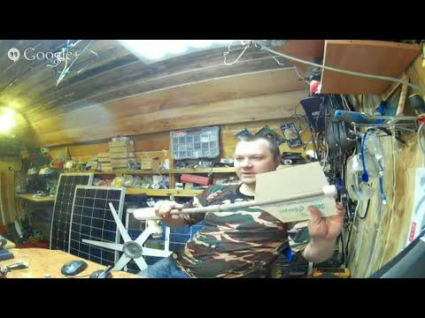 Смотреть онлайн видео Будни постройки аксиального ветрогенератора , изготов