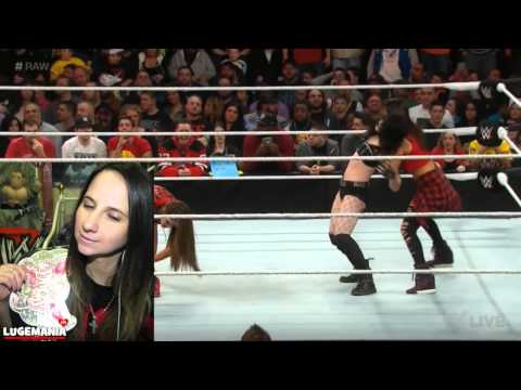 Wwe Raw 3 2 15 Aj Lee Returns Nikki Bella Vs Paige video