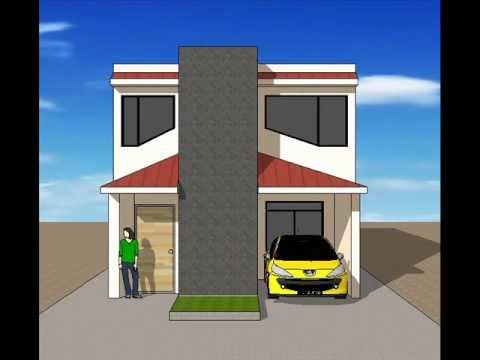 Fachadas de casas sencillas youtube for Fachadas de casas de dos pisos sencillas