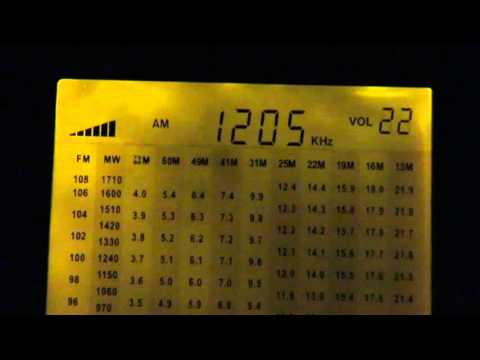 1206 kHz AM Israel - IBA Reshet Bet - received in UK