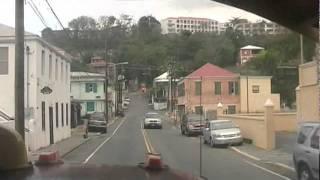 Driving through Saint Thomas U.S. Virgin Islands