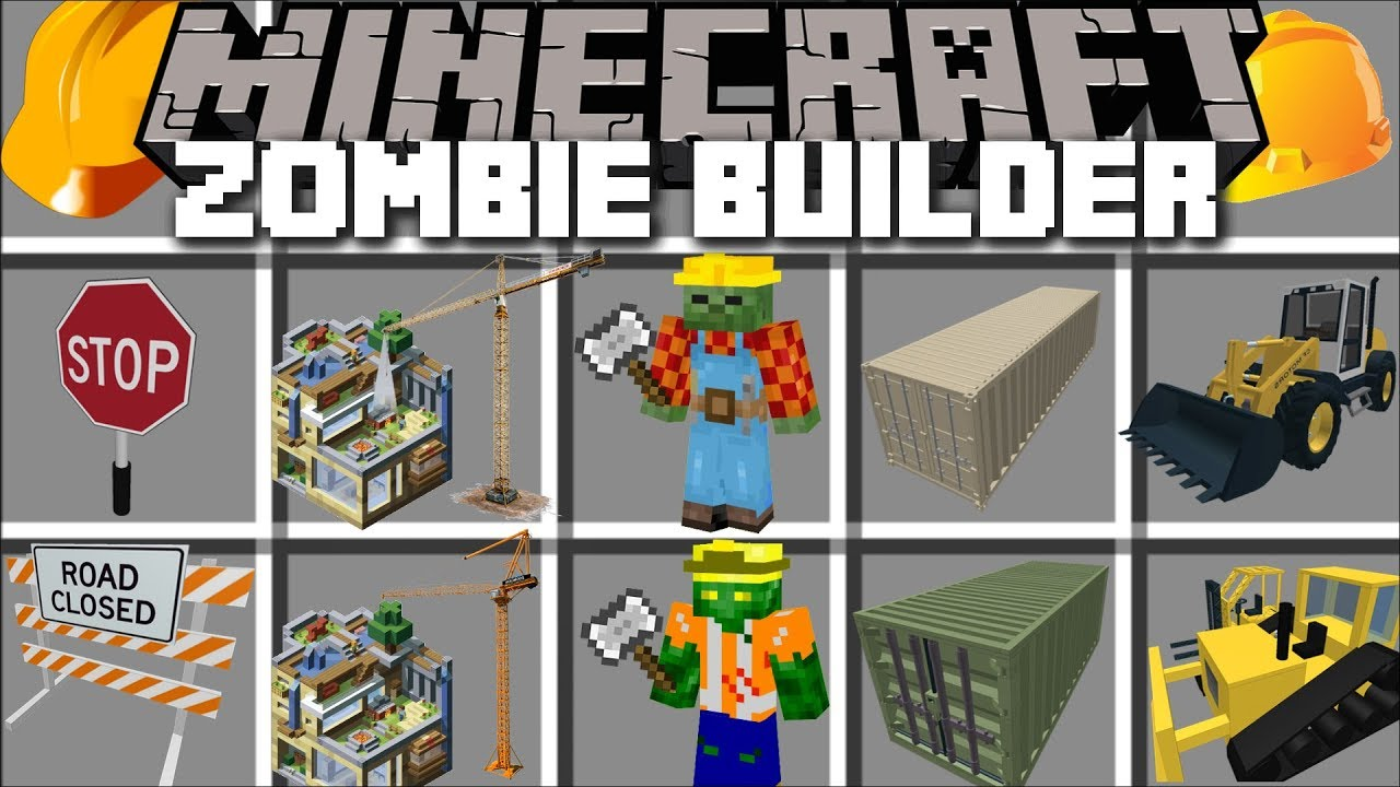 Minecraft ZOMBIE BUILDER MOD / FIND OUT WHAT THE ZOMBIES ARE BUILDING !! Minecraft