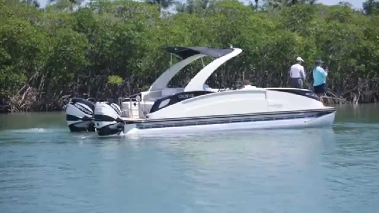 Florida sportsman best boat 20 39 to 27 39 pontoon boats for Best fishing pontoon boat