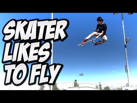 SKATER PETER VILLALBA LIKES TO FLY !!! - A DAY WITH NKA  -