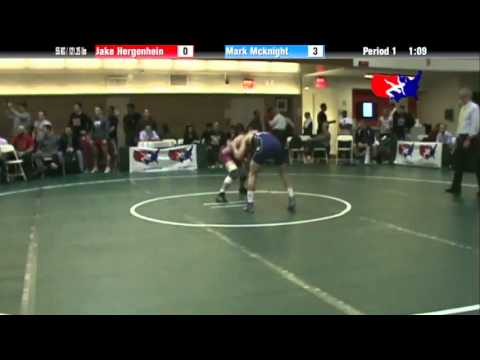 FS 55 KG - C1 - Jake Hergenhein (CAN) vs. Mark McKnight (NLWC)