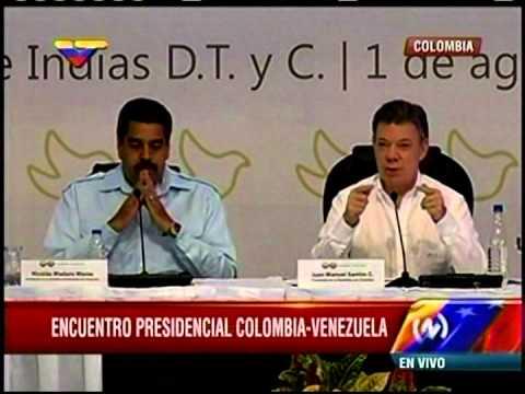 Contrabando y remesas centran encuentro entre Maduro y Santos