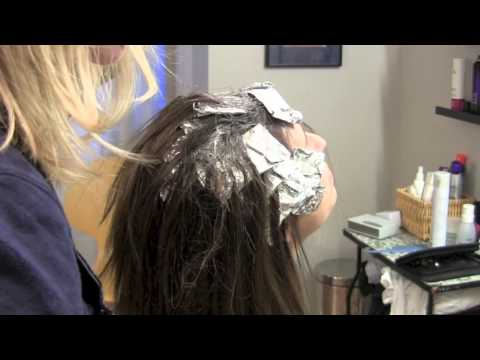 Brown Hair with Blonde Highlights (Hair Tutorial) Color Painted In-Between Foils