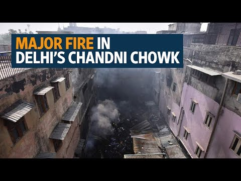 Major fire in Delhi's Chandni Chowk burns down more than 40 wholesale shops
