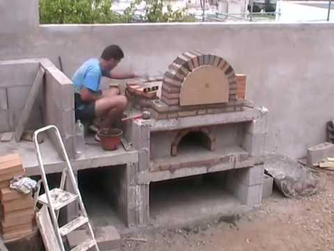 Horno de le a de la familia p rez alonso 2 2 parte youtube - Construccion hornos de lena ...