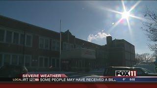 Wind chills cause school delays