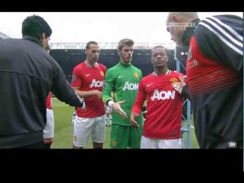 Luis Suarez Patrice Evra Handshake Incident 11/02/12
