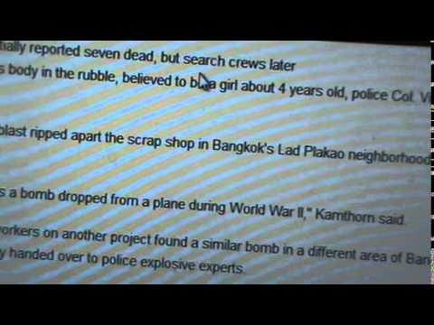 Old bomb explodes in Bangkok scrap shop, killing 8