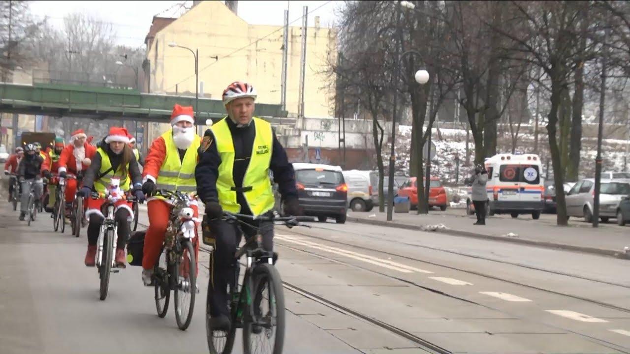 Wigilijny zlot rowerzystów.