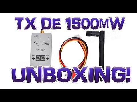UNBOXING - Skywing TS-1500 - DRONE FPV - TX de vídeo de 1500mW - banggood