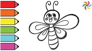 Gragonfly Drawing and Coloring | Learn colors for children |  | April Channel for kids.