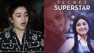 Alia Bhatt's BEST Reaction On Aamir Khan's Secret Superstar Movie