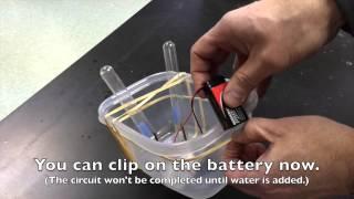 Electrolysis of Water Setup