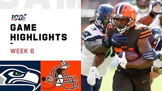 Seahawks vs. Browns Week 6 Highlights | NFL 2019