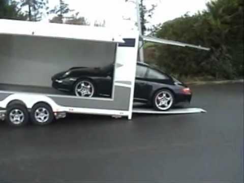 Remorque porte voiture couverte