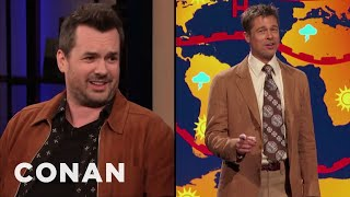 Jim Jefferies Gets Nervous When Brad Pitt Doesn't Return His Texts - CONAN on TBS