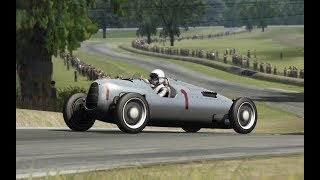 1937 Auto Union Type C, Bernd Rosemeyer, Donington Grand Prix, Assetto Corsa, TV cam + onboard