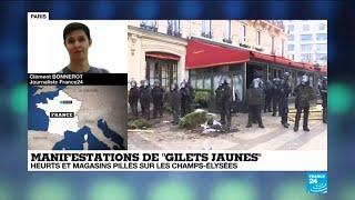 Gilets Jaunes : des heurts sur les Champs-Élysées pour le 18e samedi de mobilisation