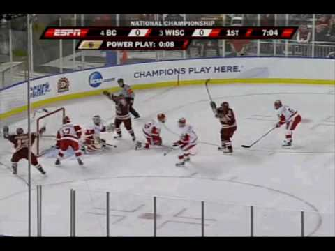 Boston College wins the 2010 NCAA D-1 Men's Hockey Championship Video