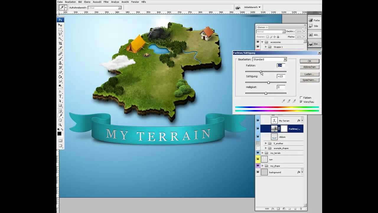 Photoshop How To Create 3d Map Youtube