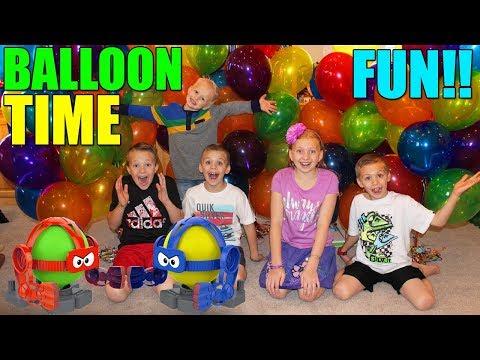 Balloon Bot Fun!!    Family Game Night