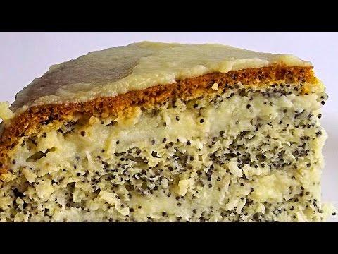 Маково-Кокосовый Торт кулинарный видео рецепт