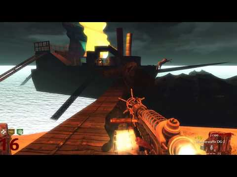 CoD WaW: Custom Zombie Map Pirate Ship SOLO (PC) ᴴᴰ