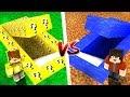 ŞANS BLOKLARI GİZLİ GEÇİT VS SU GİZLİ GEÇİT! 😱 - Minecraft