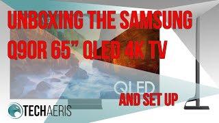 "01. 65"" Samsung Q90R 4K QLED TV (2019) Unboxing and Setup"