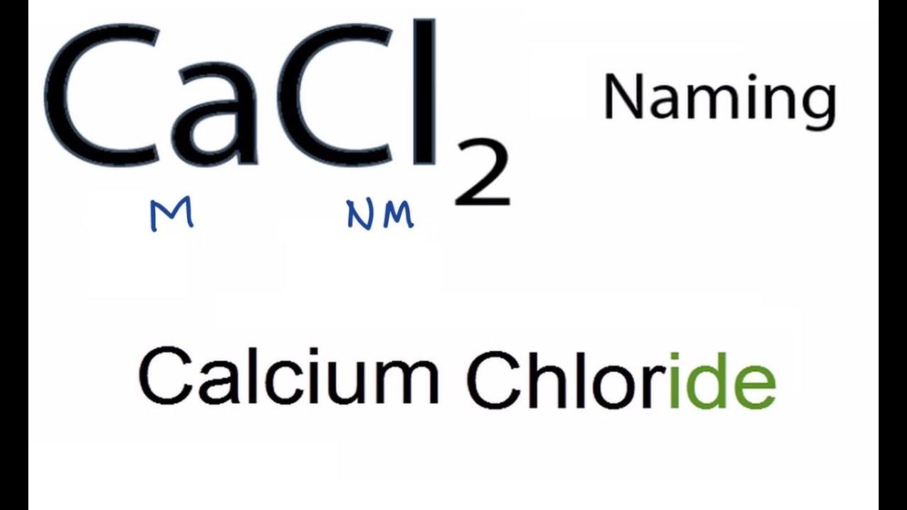 calcium chloride molecular formula