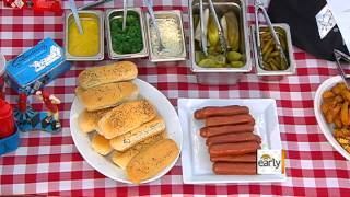 Chicago style super hot dogs