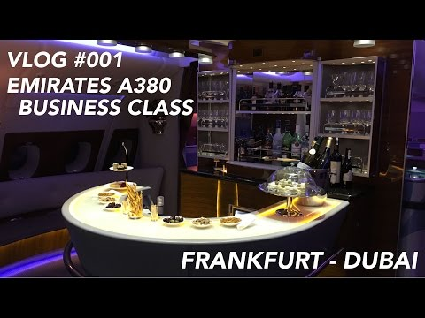 Emirates A380 Business Class Frankfurt to Dubai - My First Business Class Experience