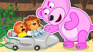 Lion Family Journey to the Center of the Earth 2 Cartoon for Kids