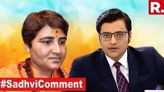 Sadhvi Pragya Insults 26/11 Hero | The Debate With Arnab Goswami