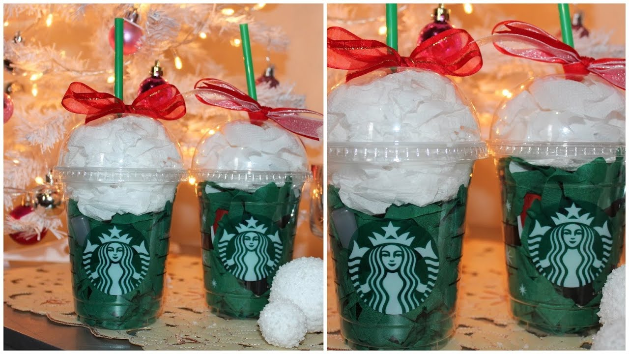 Diys of christmas gift wrap using starbucks cups