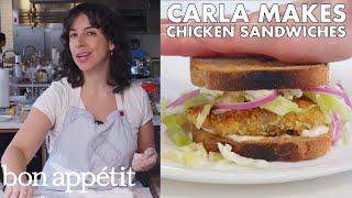 Carla Makes Crispy Fried Chicken Cutlet Sandwiches   From the Test Kitchen   Bon Appétit