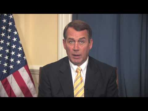 House Republican Leader John Boehner (R-OH) Delivers Weekly Republican Address