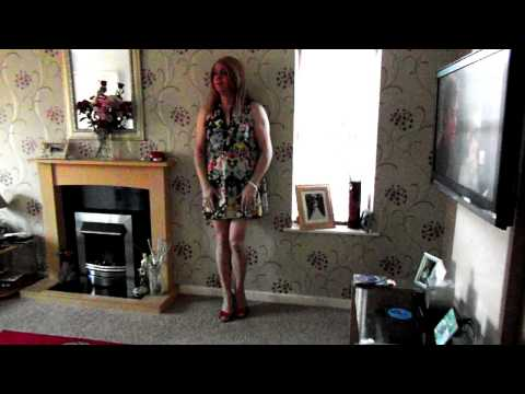 Short Flowery Dress. Diane Mccrae   Crossdresser