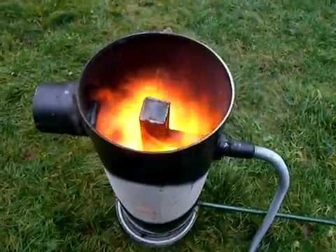 Kamna na vyjetý olej - плита со старым маслом из машины  - Used oil stove
