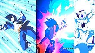 ALL NEW DLC #3 DRAMATIC FINISHES! Dragon Ball FighterZ Kaio-ken x4 Goku Vs Vegeta & Frieza DLC 3
