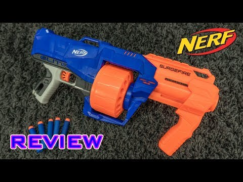 [REVIEW] Nerf Elite SurgeFire | Unboxing, Review, & Firing Demo