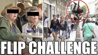 FLIP CHALLENGE / PRANK : réaliser les BACKFLIP les plus insolites ! (feat. Farid Zitoun)