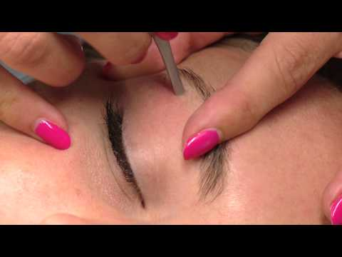 How To Tweeze Eyebrows - Salon Perfect Style - Step by Step Guide - DIY