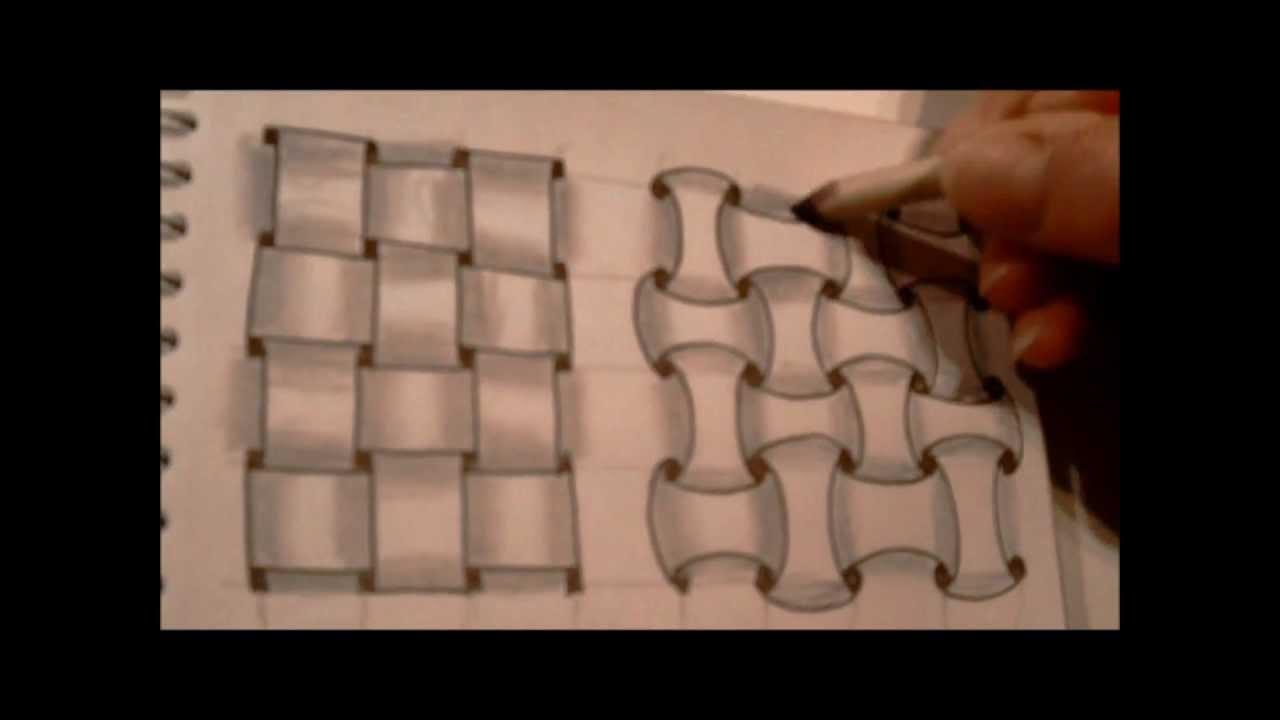 how to draw tanglepattern w2 and huggins