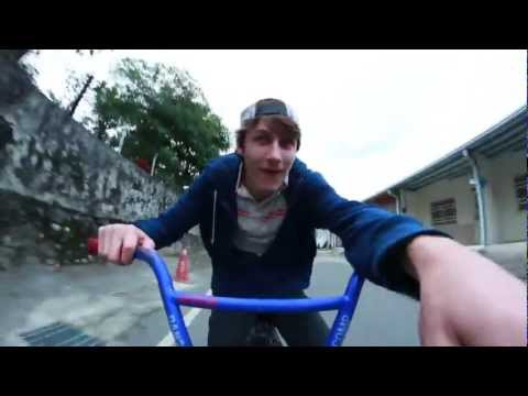 HD Ghetto Mounted DSLR Downhill Bmx Footage with T4i and Rokinon 8mm